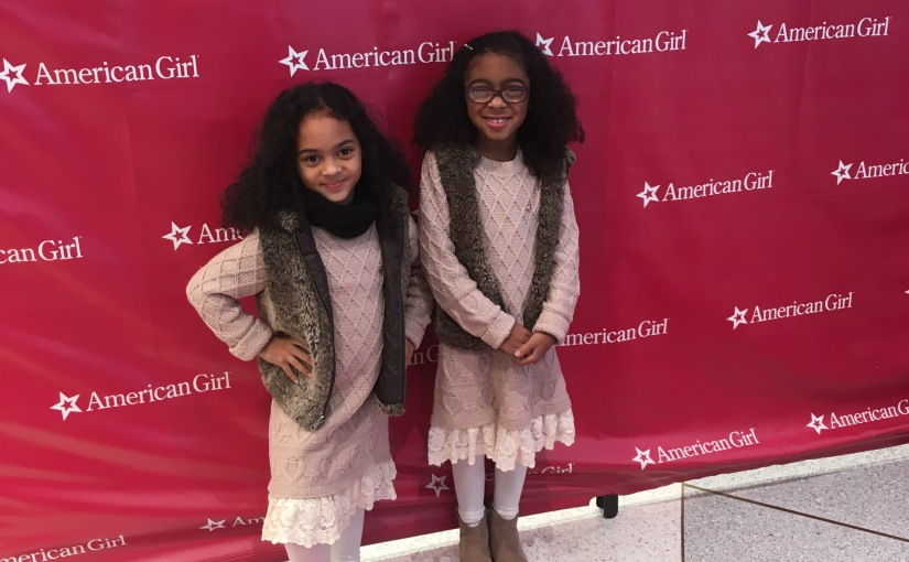 TwinDollicious sisters at American Girls Place NY