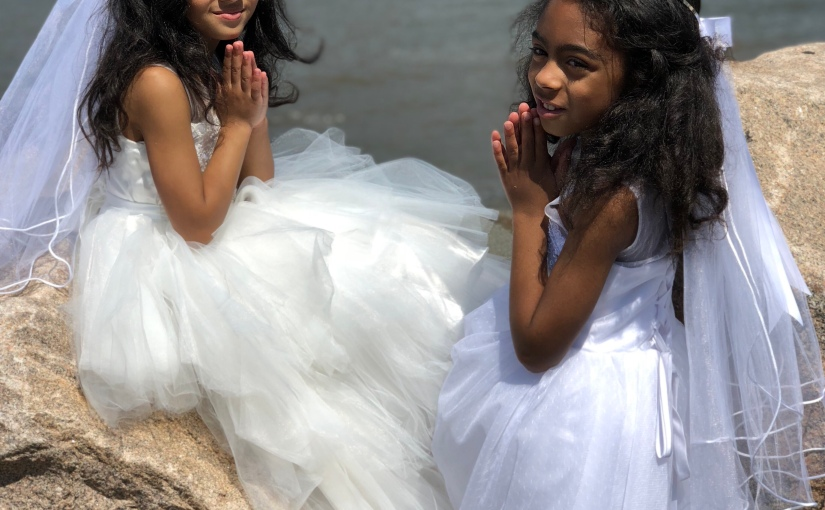 I didn't realize how special V & K's first holy communion would be until…